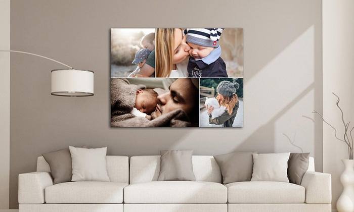 Grange Print: One or Two Large Personalised Canvases from Grange Print (Up to 90% Off)