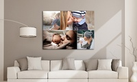 One or Two Large Personalised Canvases from Grange Print (Up to 90% Off)