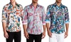 Suslo Couture Limited Edition Men's Slim Fit Printed Button-Down Shirt