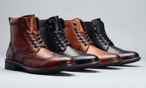 Vincent Cavallo Men's Lace-Up Combat Boots at Vincent Cavallo Men's Lace-Up Combat Boots, plus 6.0% Cash Back from Ebates.