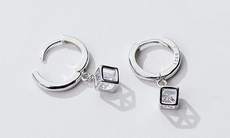 1 o 2 paia di orecchini Van Amstel Diamant in argento sterling e con cristalli disponibili in 2 modelli