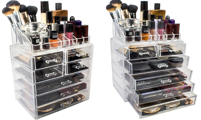 Sorbus Acrylic Makeup And Jewelry Storage Case Display Sets ...