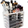 Sorbus Acrylic Makeup and Jewelry Storage Case Display Sets