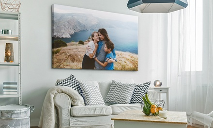 Personalised Extra Large Canvas Print in a Choice of Size from Photo Gifts (Up to 75% Off