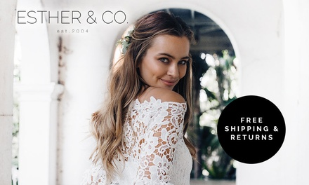 ESTHER & CO: $5 Online Credit Min Spend $125 + FREE SHIPPING