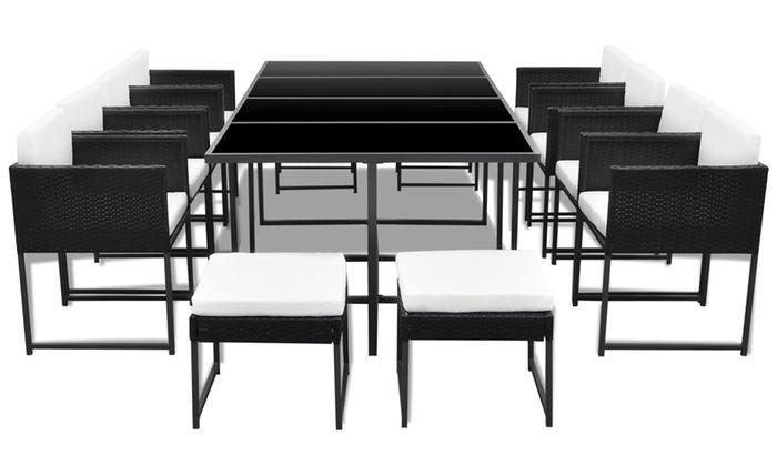 Set tavolo e sedie da 8 a 12 posti groupon goods for Tavolo 10 posti