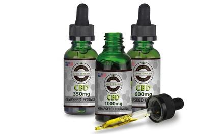 CBD with Hempseed Oil Tincture from Live Green Hemp (350mg, 600mg, or 1000mg)