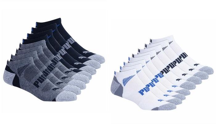 Puma Men's No Show Sock, 8 pair