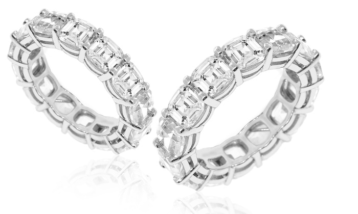 art eternity il fullxfull wedding half cz style band zoom bands vintage deco listing