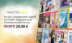 Magzter: 12 Monate Magzter Gold Mitgliedschaft mit digitalem Zugriff auf über 4.000 Bestseller-Zeitschriften und Premium-Artikel