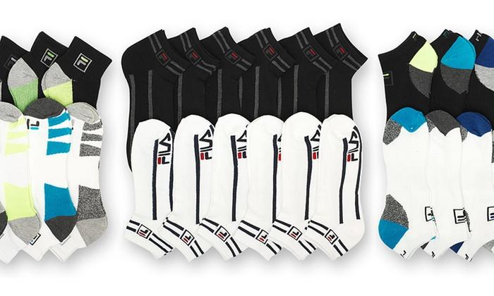 Men's Fila Moisture-Wicking Socks (12- or 6-Pairs)