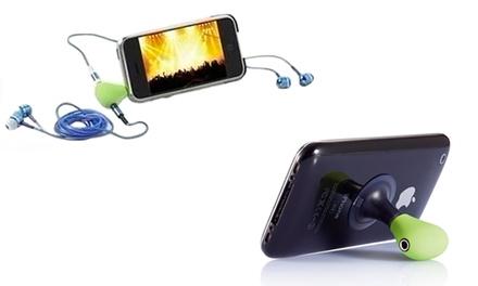 Soporte y splitter de auriculares para smartphone