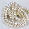 "36"" White Freshwater Pearl Endless Necklace by Valencia Gems"