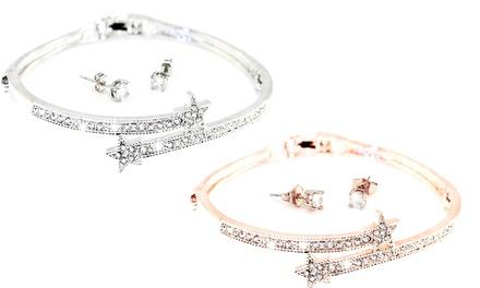 Conjunto de brazalete y pendientes Ophelia adornados con cristales de Swarovski®