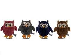 Bow Wow Pet Fetch Tug & Play Crinkle Owl Pals (4-Pack)