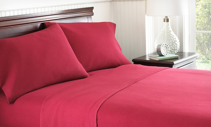 Up To 77% Off 4 Piece Jersey Knit Sheet Sets ...