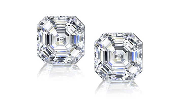 zirconia earrings claire cubic us stud square s