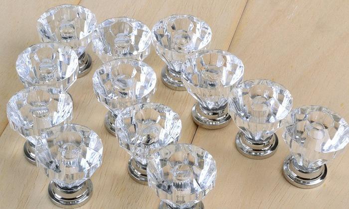 12 o 24 pomelli in cristallo groupon goods - Pomelli per mobili bagno ...