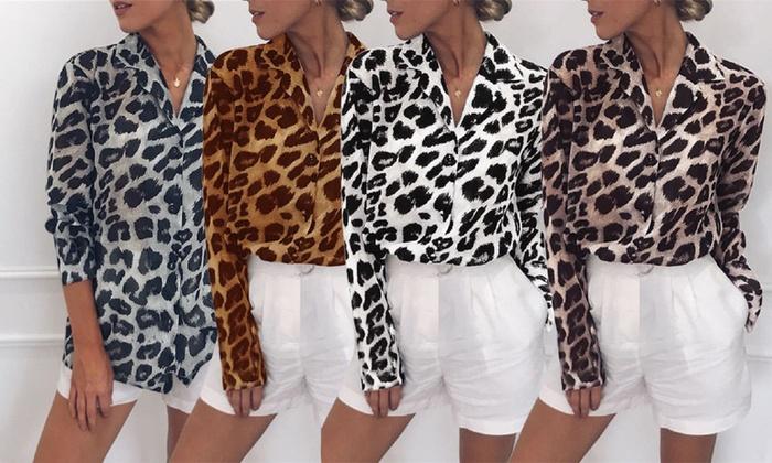 Leopard V-Neck Blouse (£9.98)