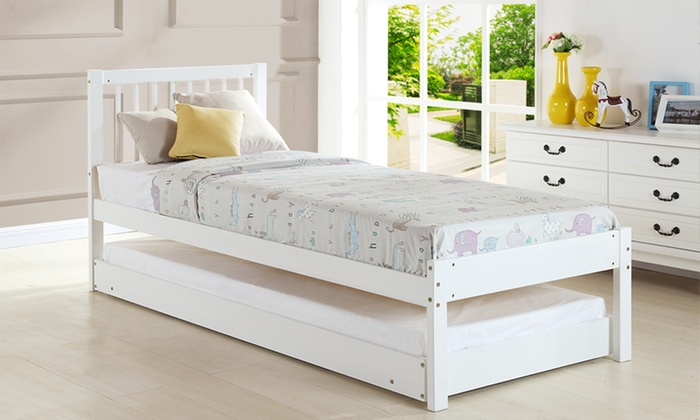 Single bed with trundle groupon for Beds groupon