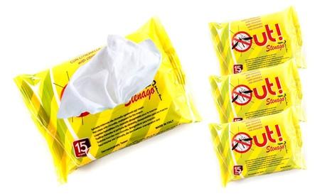 Fino a 9 confezioni da 15 salviettine antizanzare alla citronella