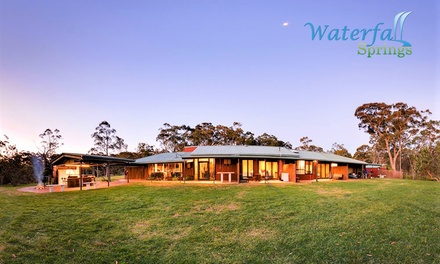Hunter Valley: 2-3 Nights for 2 with Brekky and Optional Romance Package or Glow Worm Tour at Waterfall Springs Retreat