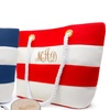 Up to 80% Off  Personalized Canvas Beach Tote from MonogramHub