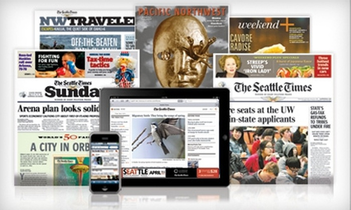 """""""The Seattle Times"""" - Central Business District: 13- or 26-Week Print and Digital Subscription to """"The Seattle Times"""" on Sunday (Up to 63% Off)"""