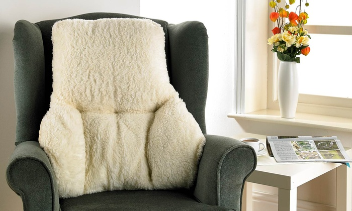 top-rated-deal-icon         Top Rated Deal                                                                                                                                                                                                                                                                                                                                                                                                                       Faux Yorkshire Sheepskin Back Support Cushion for £15.09