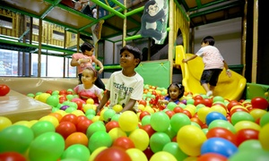 Funky Monkeys Playland: Soft Play Package with Meal and Ceramic Painting or Cupcake Decorating at Funky Monkeys Playland