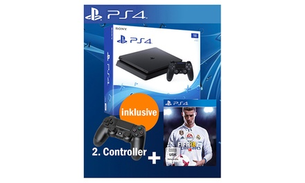 Sony PlayStation 4 1TB mit Fifa 18 inkl. 2. Controller inkl. Versand