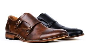 Signature Men's Monk Strap Cap Brogue Dress Shoes