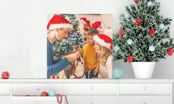 """Up to 16"""" x 20"""" Personalised Canvas Print from Photobook UK (Up to 69% Off)"""