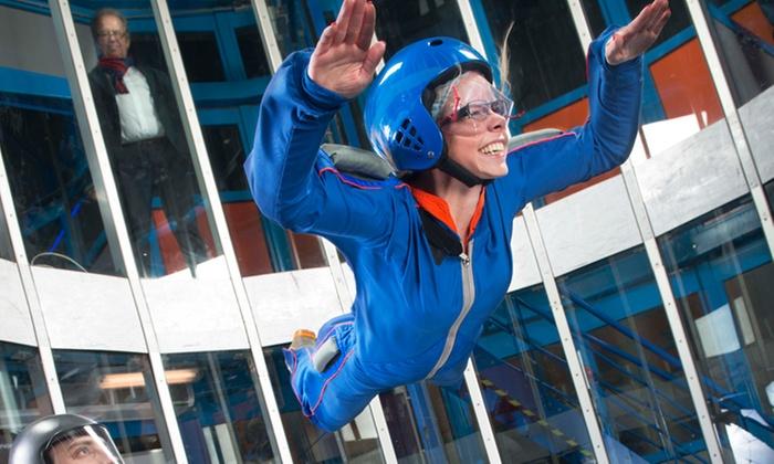 ... Skydive-sessies p.p. in een windtunnel bij Indoor Skydive Roosendaal