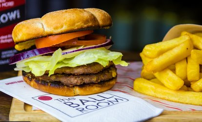 image for Two Hours of Pool with Cheeseburger and Fries for Two or Four at The Ball Room Sports Bar (Up to 46% Off)
