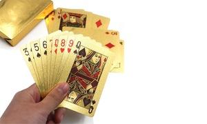 Jeu de 54 cartes plaquées or