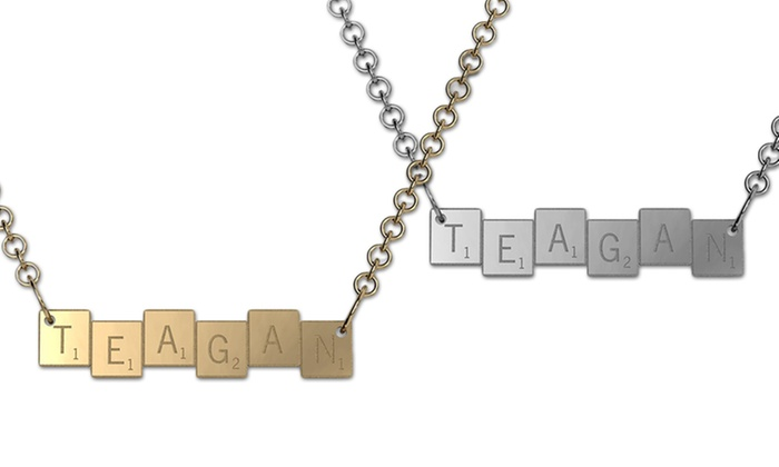 Customizable Scrabble Tile Necklace From Jewleryudesign