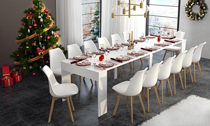 Tavolo consolle allungabile groupon goods for Groupon shopping arredamento