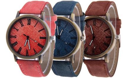 Clara Denim-Uhr inkl. Versand (55% sparen*)
