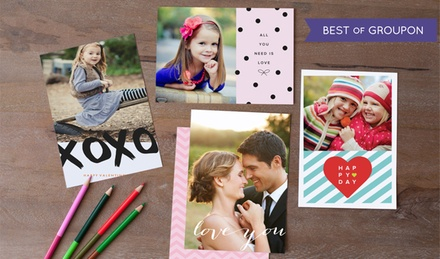 "5""x7"" Personalized Flat Cards with Envelopes from Picaboo (Up to 75% Off)"