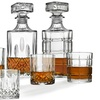 Godinger Studio Diamond Whiskey Decanter Sets (5- or 7-Piece)