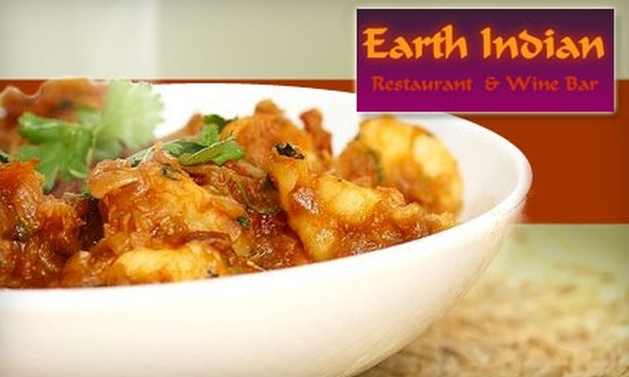 Earth Indian Restaurant and Wine Bar - Willowdale: $20 for $40 of Indian Cuisine and Drinks at Earth Indian Restaurant & Wine Bar