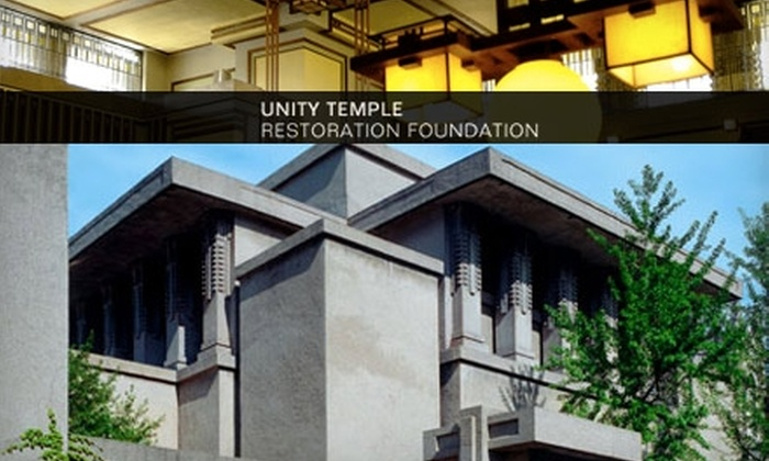 Frank Lloyd Wright's Unity Temple - Oak Park: $4 Admission to Frank Lloyd Wright's Unity Temple in Oak Park ($8 Value)