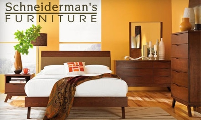 Schneiderman's Furniture - Multiple Locations: $35 for $100 Worth of Furniture, Mattresses, and Area Rugs at Schneiderman's Furniture