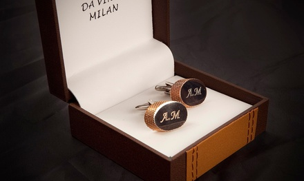 Cufflinks in Gold or Silver, Personalised with Initials from AED 99 (Up to 51% Off)