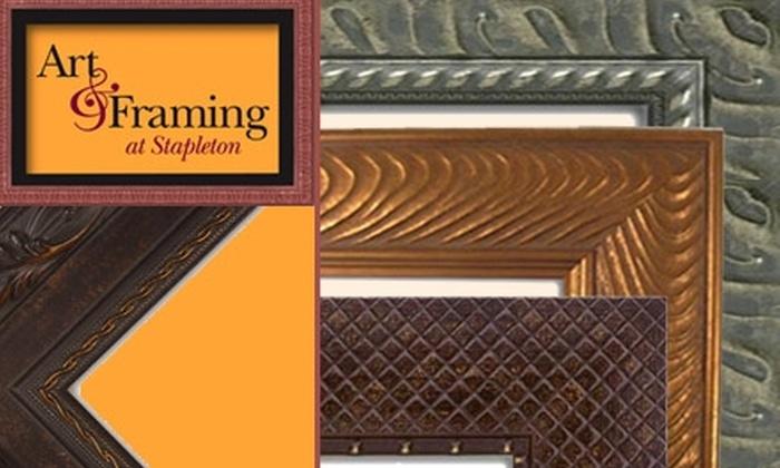 Art & Framing at Stapleton - Stapleton: $40 for $80 Worth of Framing at Art & Framing at Stapleton