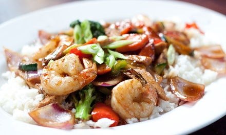 $17 for $30 Worth of Chinese Food and Drinks for Two or More at China Moon Restaurant & Lounge