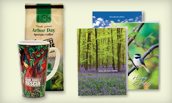 Arbor Day Foundation - Lincoln: Arbor Day Coffee-Club Membership or Eight Give-A-Tree Cards from the Arbor Day Foundation (Up to 57% Off)