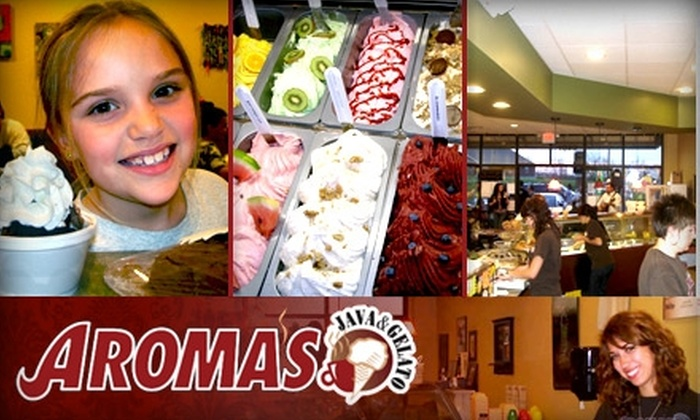 Aroma's Java & Gelato - Mack South: $5 for $10 Worth of Gelato, Coffee, and More at Aroma's Java & Gelato