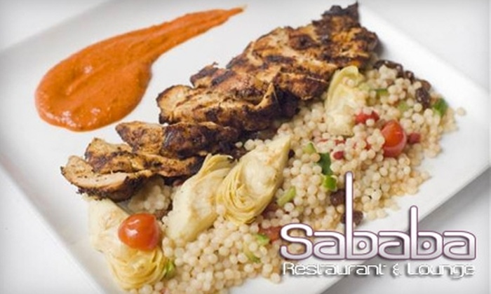 Sababa Restaurant and Lounge - Marina Pacifica: $25 for $50 Worth of Upscale American-Mediterranean Fusion Fare and Drinks at Sababa Restaurant and Lounge in Long Beach